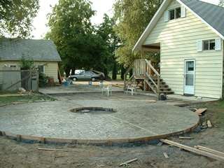 concrete patio designs with fire pit. Round Patio. Large Stamped Concrete Patio With Firepit Center Designs Fire Pit