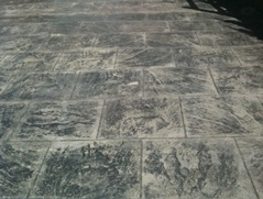 Square Slate Stamped Concrete