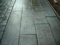 Wooden plank Stamped Concrete