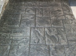 rough cut ashlar slate Stamped Concrete