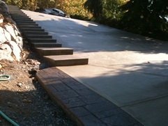 concrete staircase and driveway