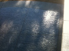 stamped concrete combo deck