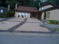 stamped concrete driveway combo