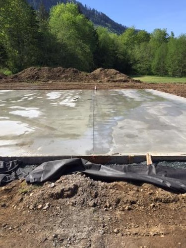 5000' concrete slab