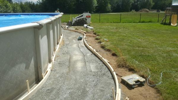 concrete pool deck forms
