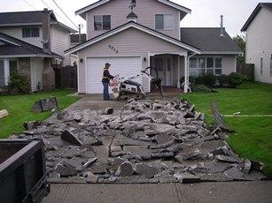 driveway demolition