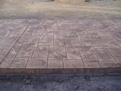 Large Ashlar Stamped Concrete
