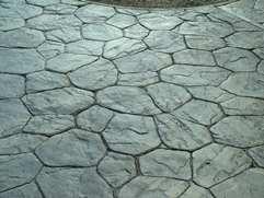 Random Stone Stamped Concrete