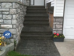 concrete stamping stairs and entryway