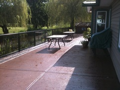 Ashlar Swirl concrete deck