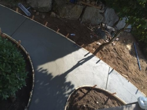 Concrete sidewalk - eagle mountain, Abbotsford BC