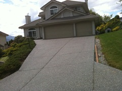 Exposed aggregate driveway in Abbotsford