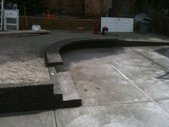 colored swirl finish and exposed aggregate patio