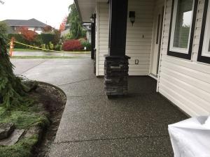 Aggregate Concrete Sidewalk
