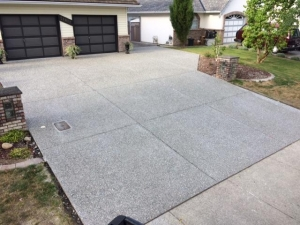 Exposed aggregate driveway - Langley BC