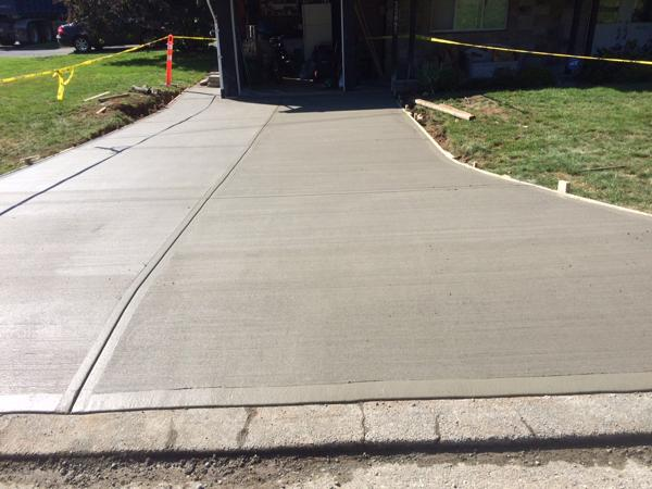 Broomed concrete driveway - Mission BC