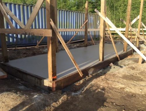 Rebar Install and Concrete Barn Slab Pour