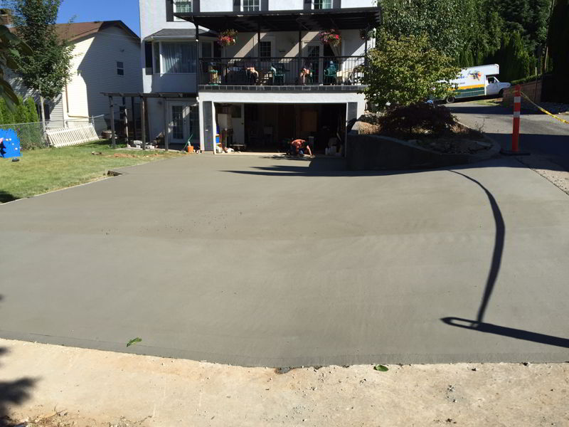 broomed concrete driveway Abbotsford BC
