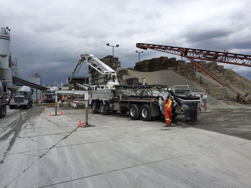 Yard slab pour at Langley BC