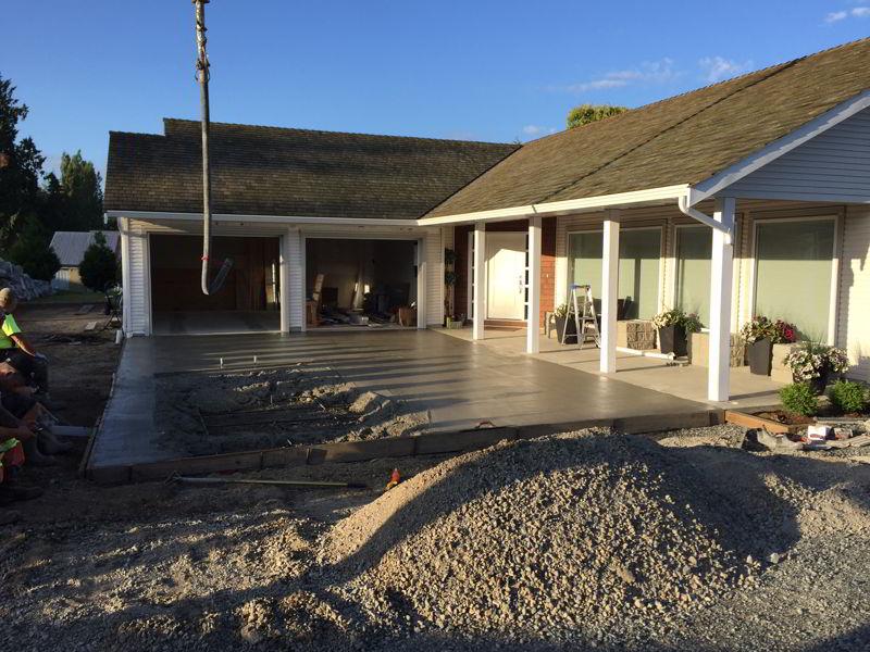 Concrete driveway Aldergrove BC