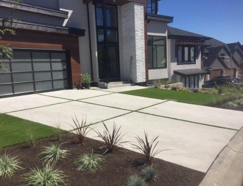 Abbotsford Concrete Driveway With Grass Strips