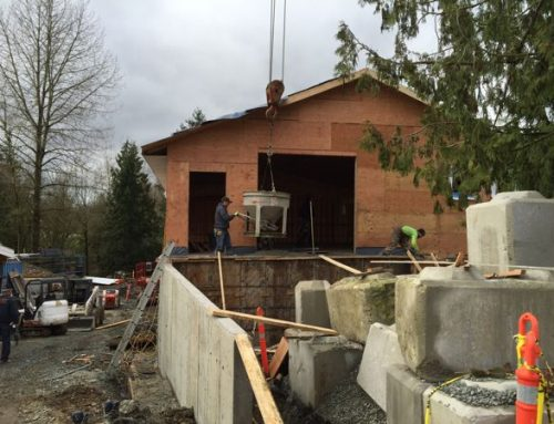 Pouring Concrete for Our New Shop