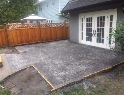 Stamped Concrete Sidewalk and Patio in Yarrow BC