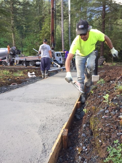 Concrete sidewalk in stillwood, Chilliwack