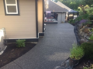Exposed aggregate concrete walkway in Chilliwack, BC.