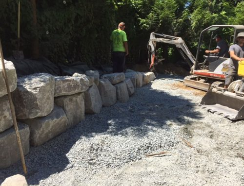 Multi Level Concrete Patio in Chilliwack BC