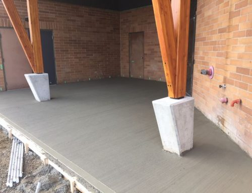 Broomed Concrete Loading Entry for Church in Langley