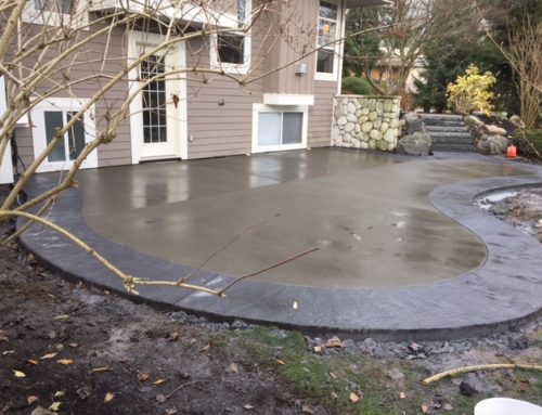 Acid Etch Concrete Patio in Abbotsford