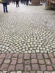 European cobblestone pattern