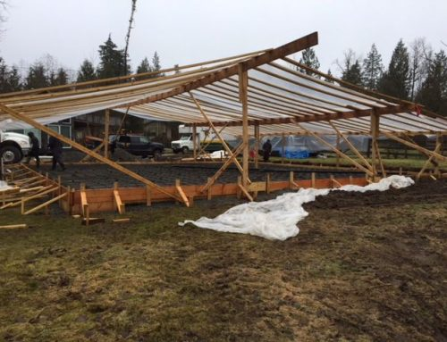 Concrete Pouring During Winter in Abbotsford